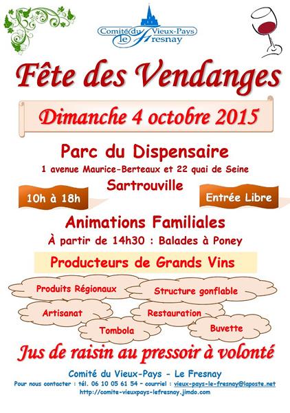 Fête des vendanges de Sartrouville, le 4 octobre 2015, parc du dispensaire