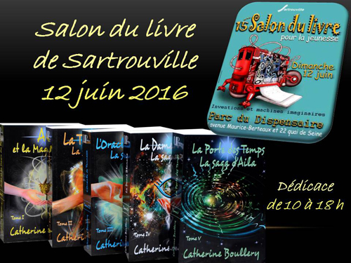 Salon du livre de Sartrouville : 12 juin 2016