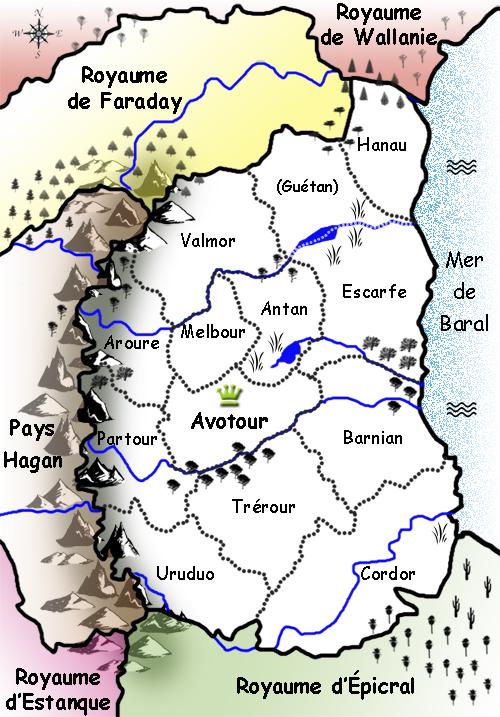 Avotour's map