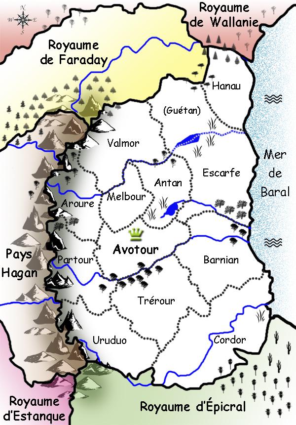 La carte d'Avotour