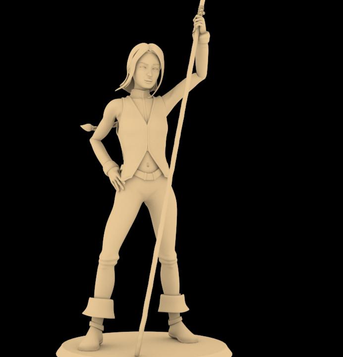 troisième ébauche pour la figurine d'Aila