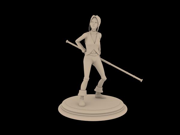 Première ébauche pour la figurine d'Aila