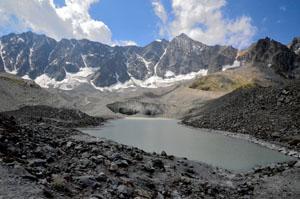 Serre Chevalier - le lac glacière d'Arsine