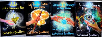 Couvertures d'Aila et la Magie des Fées, La Tribu Libre, L'Oracle de Tennesse et la Dame Blanche - Catherine Boullery