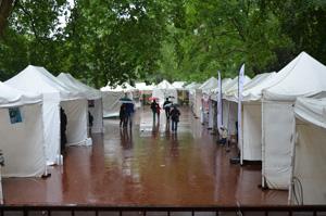 La pluie sur le Salon du livre de Sartrouville 2012