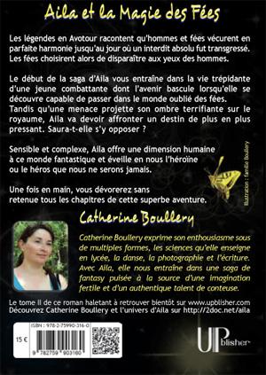 Quatrième de couverture du Livre de fantasy papier Aila et la Magie des Fées pour le Salon du livre de Sartrouville 2012